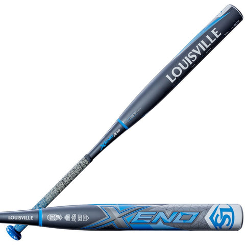 Louisville Slugger 2019 Xeno X19 (-10) Fastpitch Bat - Gray Blue