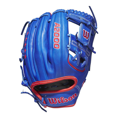 "Wilson 2020 A2000 1786 GOTM 11.50"" Infield Glove WBW100254115 July 2020 - Royal Red - HIT A Double"