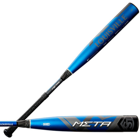 "Louisville Slugger 2020 Meta (-3) 2 5/8"" BBCOR Bat WTLBBS619 - Black Blue"