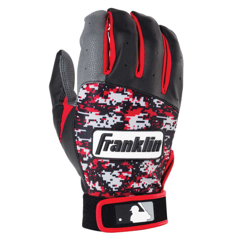 Franklin Digitek Youth Batting Gloves - Black Red Camo