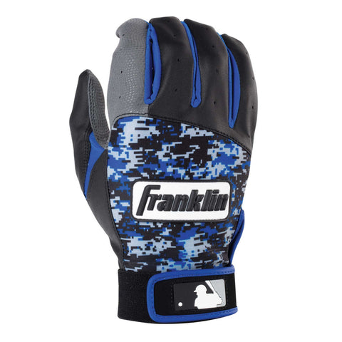 Franklin Digitek Youth Batting Gloves - Black Royal Camo