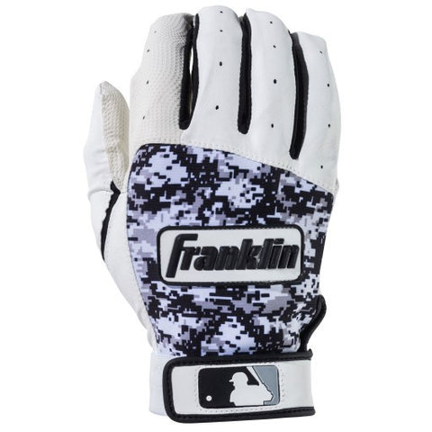 Franklin Digitek Batting Gloves - White Black Camo