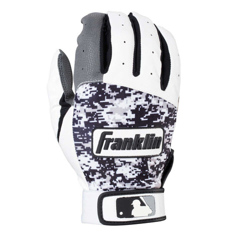Franklin Digitek Youth Batting Gloves - White Black Camo