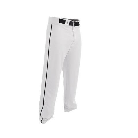 Easton Youth Rival 2 Piped Baseball Pants - White Black - Baseball Apparel - Hit A Double