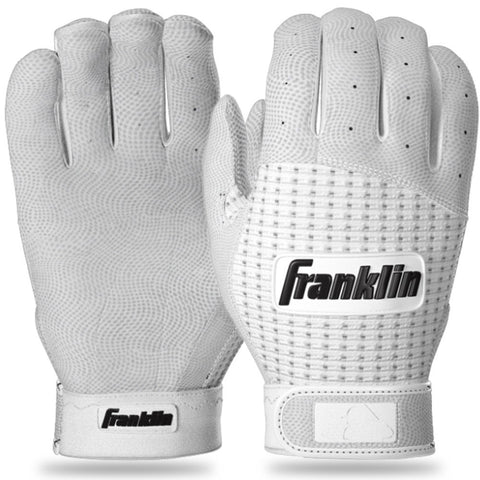 Franklin 2nd-Skinz Adult Batting Gloves - White
