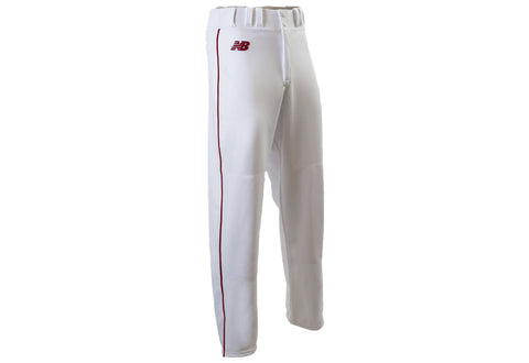 New Balance 2000 Adult Piped Open Cuff Pant - White Red