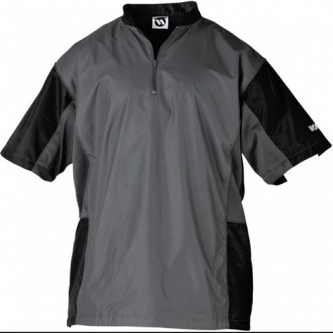 Worth Batting Jacket 1/2 Zip Short Sleeve - Charcoal Black