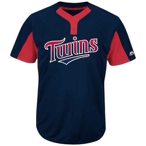 Majestic IY83-I383 MLB Premier Eagle 2-Button Jersey - Twins
