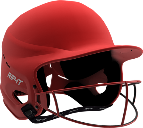 Rip-It Softball Vision Pro Helmet - Matte Red