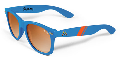 Maxx HD MLB Miami Marlins Retro 2.0 Sunglasses Blue