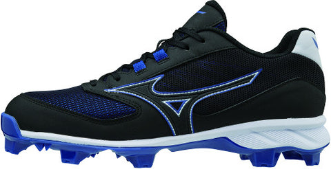 Mizuno 9-Spike Advanced Dominant TPU Low Cleats - Black Royal