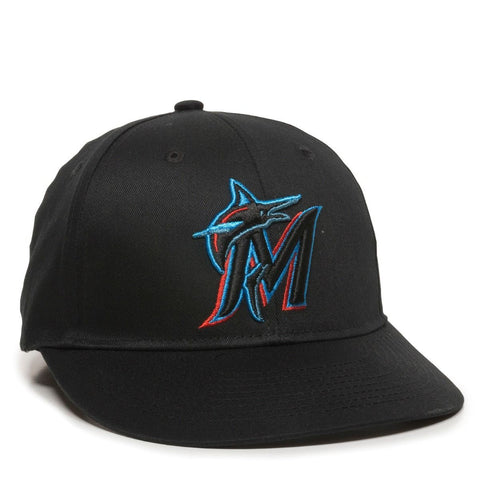 OC Sports MLB-300 MLB Cotton Twill Baseball Cap - Miami Marlins Home & Road