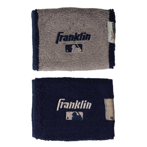 "Franklin MLB X-Vent Reversible Wristband 4"" - Navy Gray"