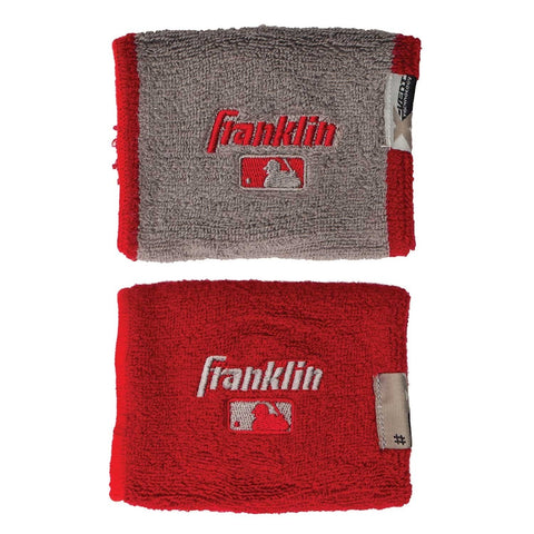 "Franklin MLB X-Vent Reversible Wristband 4"" - Royal Gray"