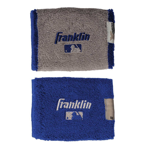 "Franklin MLB X-Vent Reversible Wristband 4"" - Scarlet Gray"