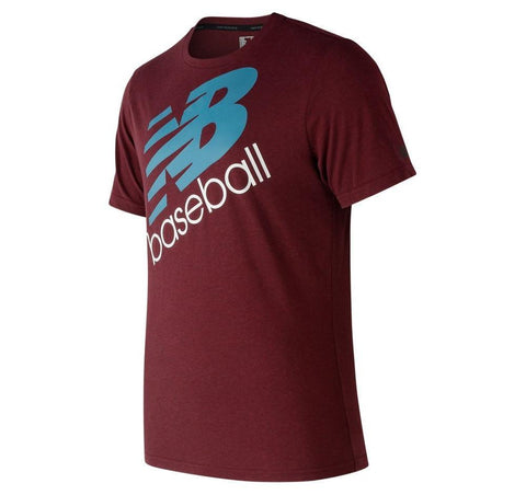 New Balance Baseball Heather Tech Tee - Burgundy