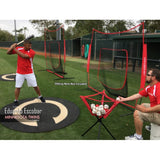PowerNet Ball Caddy for Baseball Softball Practice - Red