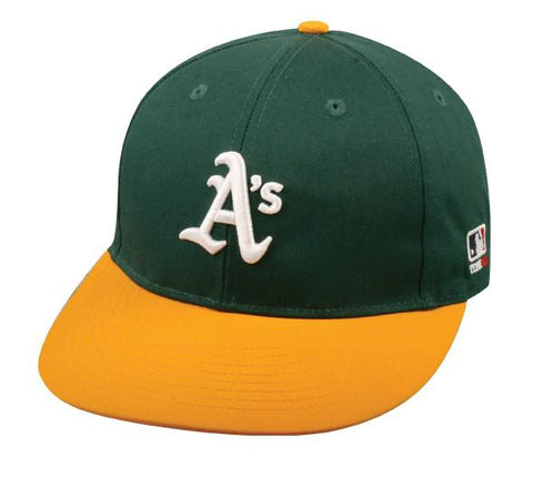 OC Sports MLB-300 MLB Cotton Twill Baseball Cap - Oakland Athletics Home
