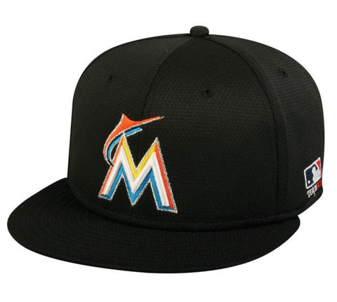 OC Sports MLB-400 MLB Mesh Baseball Cap - Miami Marlins Home & Road
