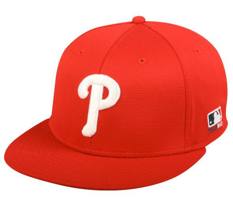 OC Sports MLB-400 MLB Mesh Baseball Cap - Philadelphia Phillies Home & Road