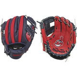 "Wilson A200 Indians 10.00"" T-Ball Glove WTA02RB16CLE"