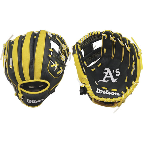 "Wilson A200 Athletics 10.00"" T-Ball Glove WTA02RB16OAK"