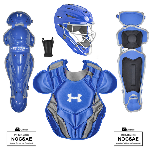 Under Armour Converge Victory Series UACKCC4-SRVS 12-16 Yr Catcher's Kit - Royal - HIT A Double