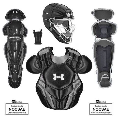 Under Armour Converge Victory Series UACKCC4-YVS 7-9 Yr Catcher's Kit - Black - HIT A Double