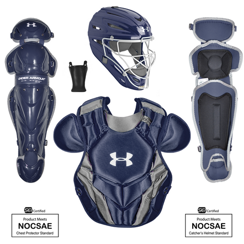 Under Armour Converge Victory Series UACKCC4-SRVS 12-16 Yr Catcher's Kit - Navy - HIT A Double