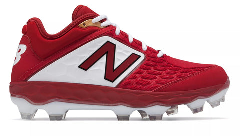 New Balance 3000v4 TPU Molded Cleat Low-Cut - Cardinal White