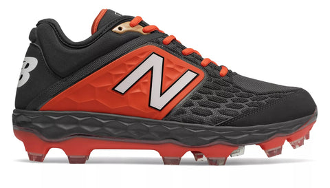 New Balance 3000v4 TPU Molded Cleat Low-Cut - Black Orange