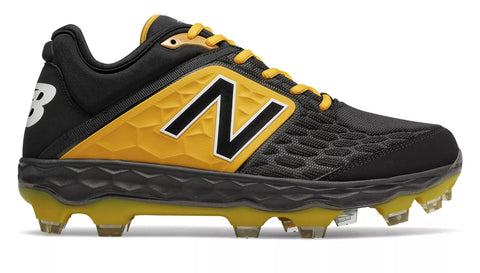 New Balance 3000v4 TPU Molded Cleat Low-Cut - Black Yellow