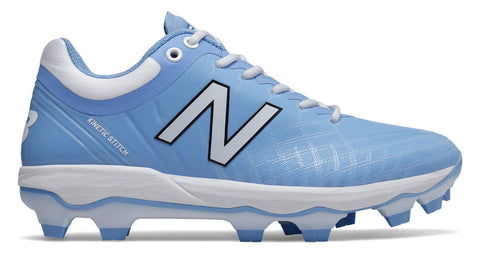New Balance PL4040v5 TPU Molded Cleats Low-Cut - Columbia Blue White - Baseball Footwear - Hit A Double - 2