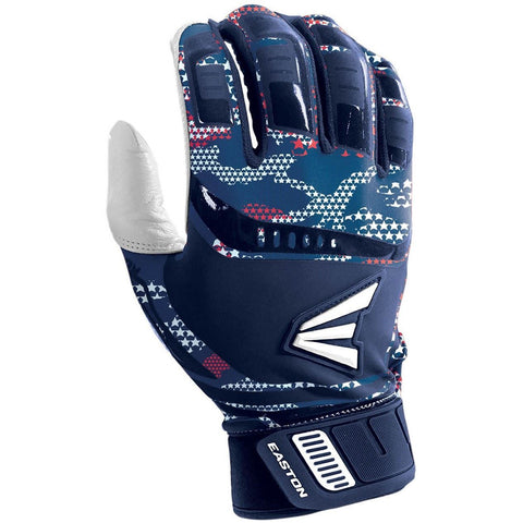 Easton Walk-Off Adult Batting Gloves - Stars and Stripes
