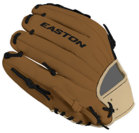 "Easton Small Batch 52 C42 12.00"" Infield Glove SMB52-3 C42 - Black Brown"