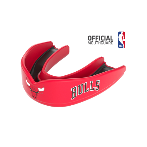 Shock Doctor 8302 SuperFit Basketball NBA Mouthguard Chicago Bulls - Red Black
