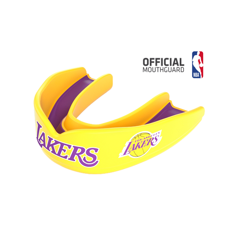 Shock Doctor 8305 SuperFit Basketball NBA Mouthguard Los Angeles Lakers - Gold Purple
