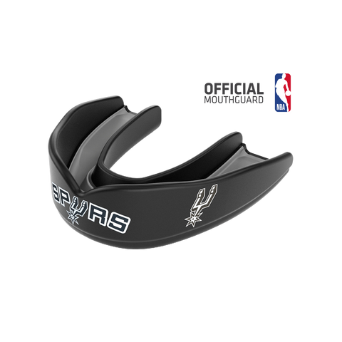 Shock Doctor 8309 SuperFit Basketball NBA Mouthguard San Antonio Spurs - Black Silver