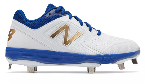 New Balance SMVELOv1 Fastpitch Metal Cleat Low-Cut - White Royal