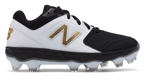 New Balance SPVELOv1 Fastpitch TPU Molded Cleat Low-Cut - White Black