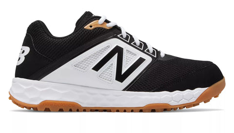 New Balance 3000v4 Fresh Foam Turf Baseball Shoe - Black White