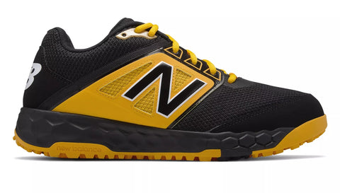 New Balance 3000v4 Fresh Foam Turf Baseball Shoe - Black Yellow