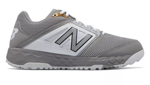 New Balance 3000v4 Fresh Foam Turf Baseball Shoe - Gray White