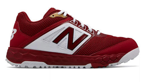 New Balance 3000v4 Fresh Foam Turf Baseball Shoe - Maroon White