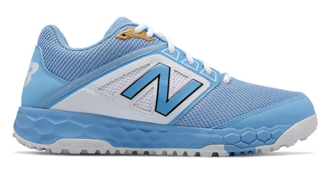 New Balance 3000v4 Fresh Foam Turf Baseball Shoe - Baby Blue White