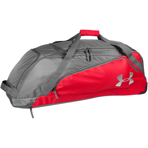 Under Armour Line Drive Wheeled Player Bag - Scarlet