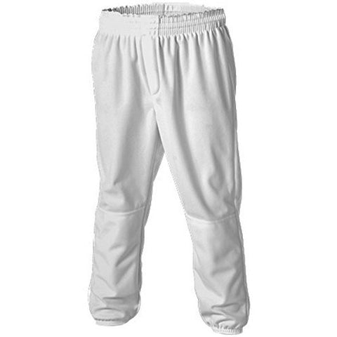 Alleson Double Knit Pull Up Youth Baseball Pants - White