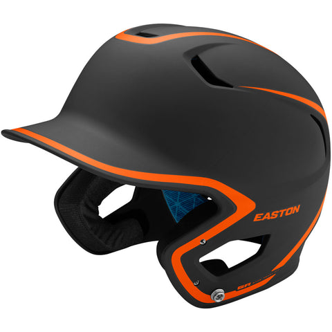 Easton Z5 2.0 Matte Two-Tone Batting Helmet - Black Orange