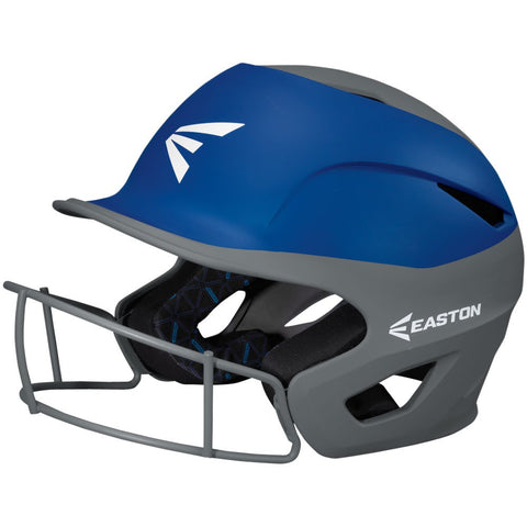 Easton Prowess Fastpitch Helmet Two Tone with Mask - Charcoal Royal