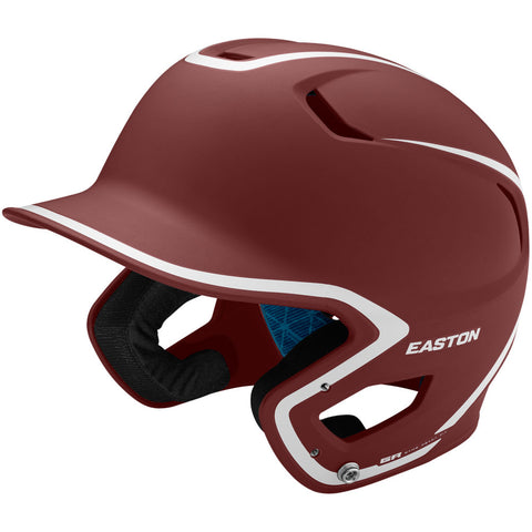 Easton Z5 2.0 Matte Two-Tone Batting Helmet - Maroon White